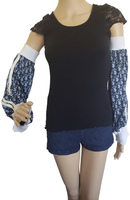 Item - Blue Multicolor Woven issimo Arm Sleeves Belt