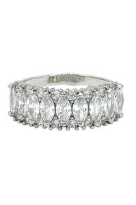 Ocean Fashion Sparkling candy crystal silver ring