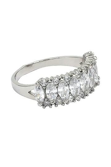 Ocean Fashion Sparkling candy crystal silver ring Image 1