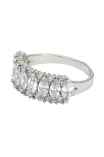 Ocean Fashion Sparkling candy crystal silver ring Image 2