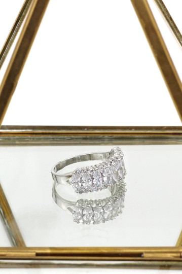 Ocean Fashion Sparkling candy crystal silver ring Image 3