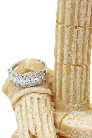 Ocean Fashion Sparkling candy crystal silver ring Image 6