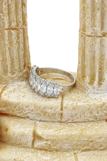 Ocean Fashion Sparkling candy crystal silver ring Image 7
