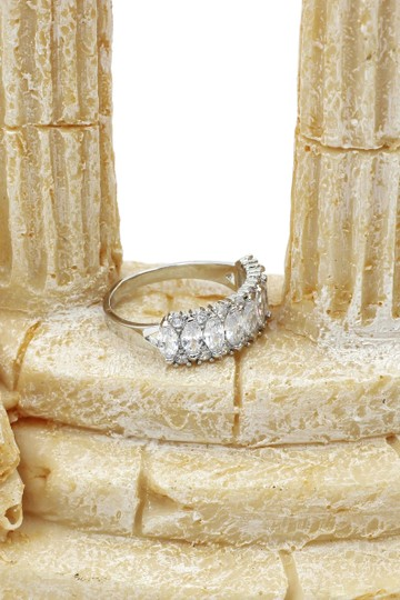 Ocean Fashion Sparkling candy crystal silver ring Image 8