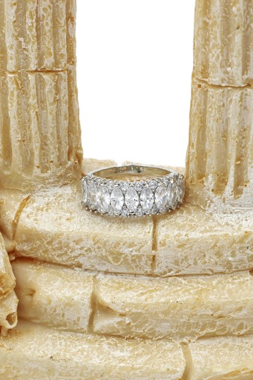 Ocean Fashion Sparkling candy crystal silver ring Image 9
