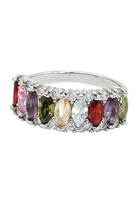 Ocean Fashion Sparkling candy crystal colorful ring