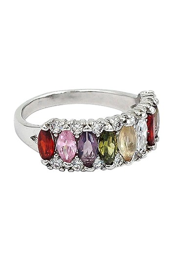 Ocean Fashion Sparkling candy crystal colorful ring Image 2