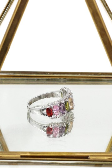 Ocean Fashion Sparkling candy crystal colorful ring Image 3