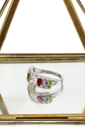 Ocean Fashion Sparkling candy crystal colorful ring Image 4