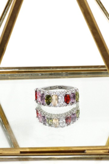 Ocean Fashion Sparkling candy crystal colorful ring Image 5