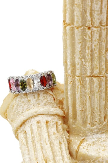 Ocean Fashion Sparkling candy crystal colorful ring Image 7