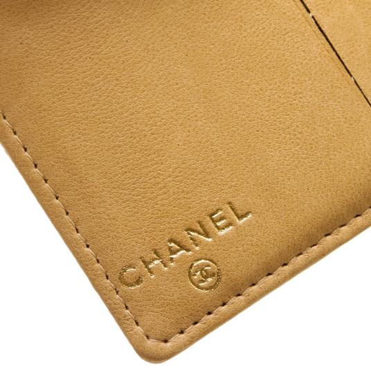 Chanel Chanel Beige Caviar Leather CC Compact Wallet Image 4