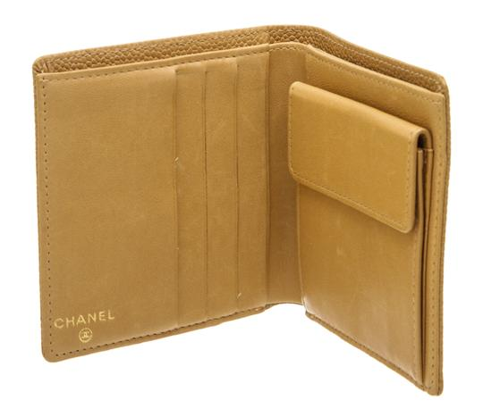 Chanel Chanel Beige Caviar Leather CC Compact Wallet Image 7