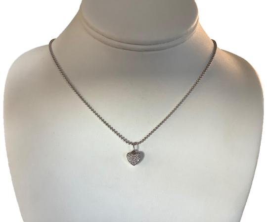Preload https://img-static.tradesy.com/item/26229465/sterling-silver-and-diamonds-18-ball-chain-pave-heart-pendant-necklace-0-1-540-540.jpg