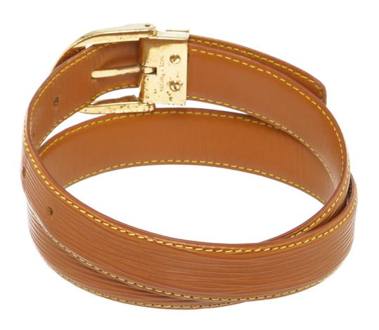 Louis Vuitton Louis Vuitton Brown Epi Leather Skinny Classique Belt 85 Image 1