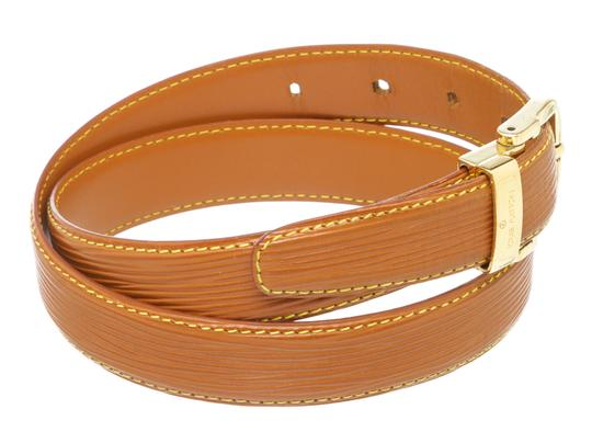 Louis Vuitton Louis Vuitton Brown Epi Leather Skinny Classique Belt 85 Image 2
