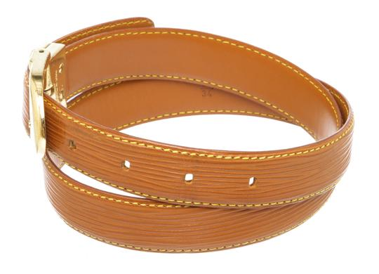 Louis Vuitton Louis Vuitton Brown Epi Leather Skinny Classique Belt 85 Image 3