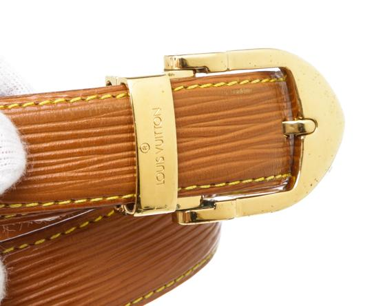 Louis Vuitton Louis Vuitton Brown Epi Leather Skinny Classique Belt 85 Image 5