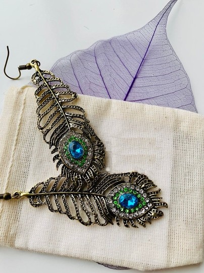 Other Vintage inspired Peacock Feather Earrings Image 4