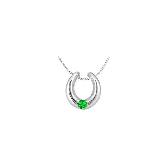 Preload https://img-static.tradesy.com/item/26229592/green-14k-white-gold-horseshoe-pendant-with-created-emerald-half-carat-total-necklace-0-0-540-540.jpg