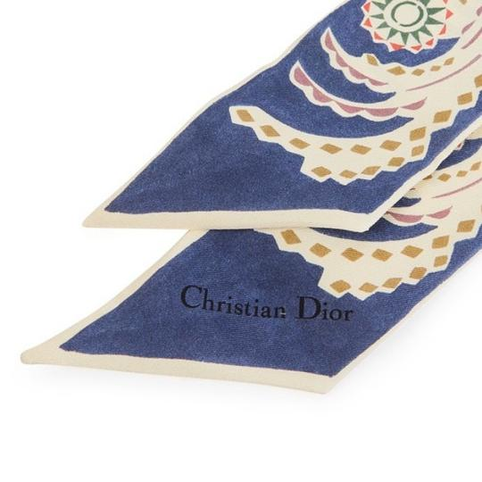 Dior 3 ROYAUMES MIDNIGHT BLUE MITZAH SILK SCARF Image 1