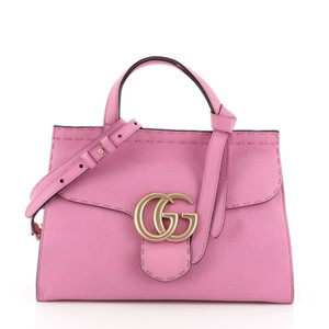 Gucci Top Handle Leather Satchel in Pink