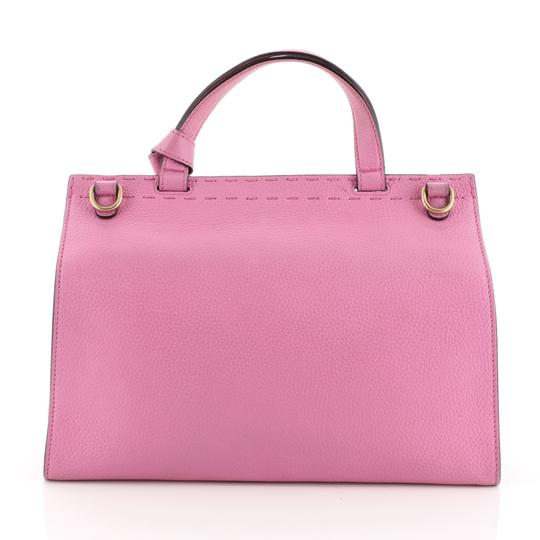 Gucci Top Handle Leather Satchel in Pink Image 2