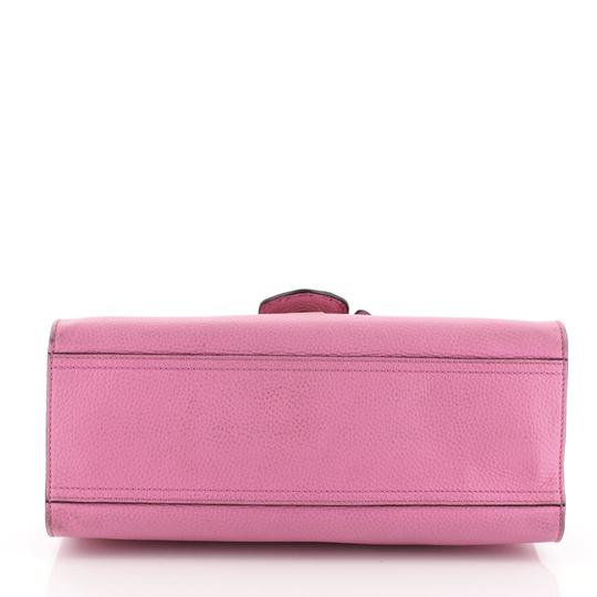 Gucci Top Handle Leather Satchel in Pink Image 3