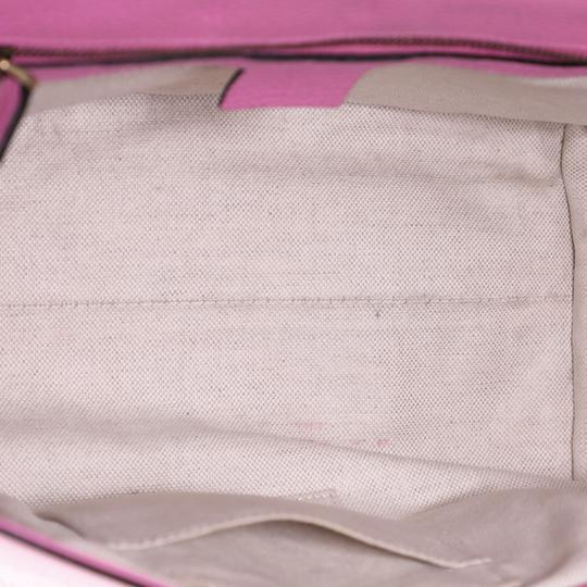 Gucci Top Handle Leather Satchel in Pink Image 4