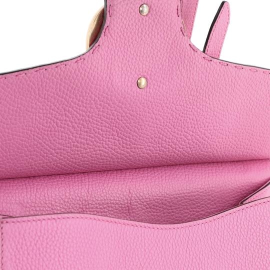 Gucci Top Handle Leather Satchel in Pink Image 7
