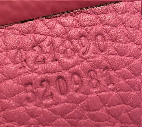 Gucci Top Handle Leather Satchel in Pink Image 8