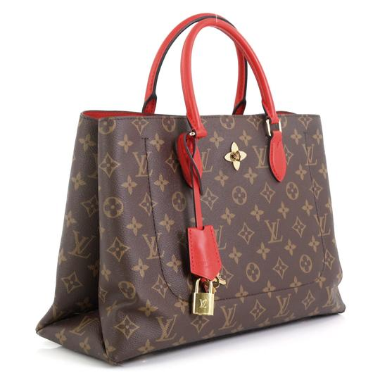 Louis Vuitton Flower Canvas Tote in Brown Image 1