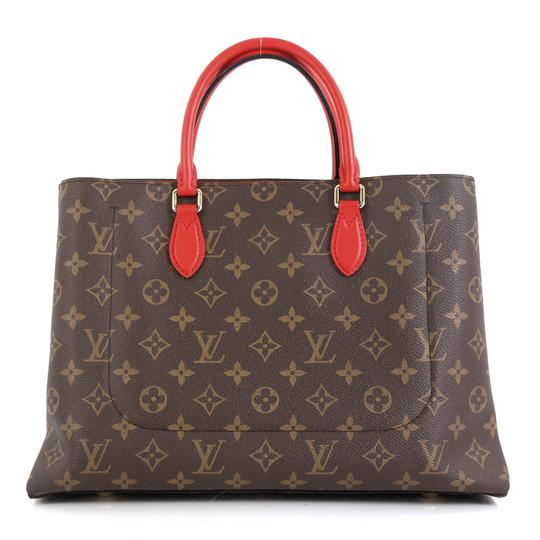 Louis Vuitton Flower Canvas Tote in Brown Image 2