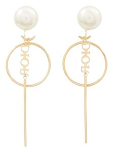 Dior Dior Tribales pearl gold tone earrings