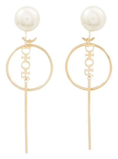 Dior Dior Tribales pearl gold tone earrings Image 0
