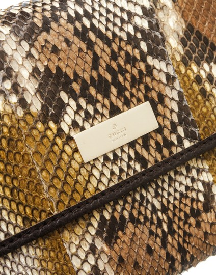 Gucci Gucci Brown Python Trifold Wallet Image 4
