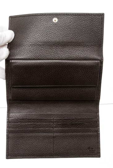 Gucci Gucci Brown Python Trifold Wallet Image 7