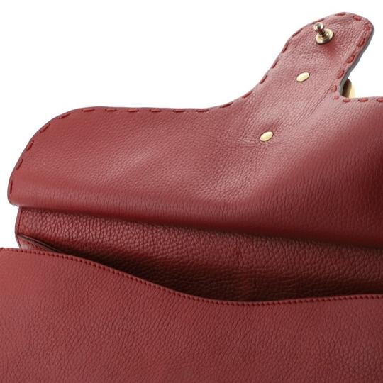 Gucci Handle Leather Satchel in Red Image 5