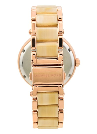 Michael Kors Michael Kors Women's Parker Rose Gold and Champagne Horn Watch MK6530 Image 1