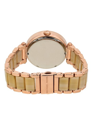 Michael Kors Michael Kors Women's Parker Rose Gold and Champagne Horn Watch MK6530 Image 2