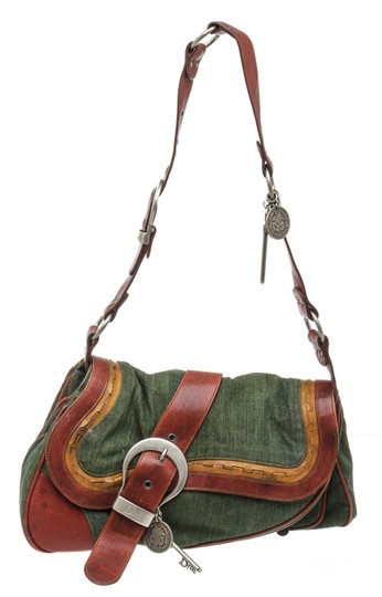 Preload https://img-static.tradesy.com/item/26229709/dior-christian-green-gaucho-double-saddle-multicolour-denim-and-leather-shoulder-bag-0-0-540-540.jpg
