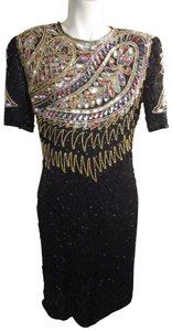 Laurence Kazar Vintage Beaded Sequined Party Oneam003 Dress