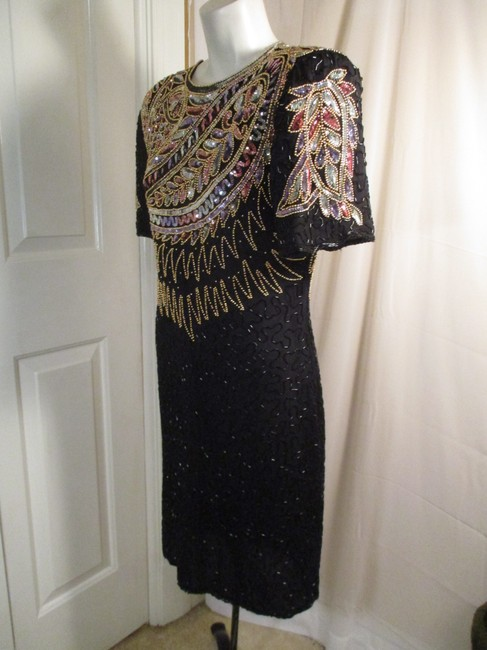 Laurence Kazar Vintage Beaded Sequined Party Oneam003 Dress Image 2