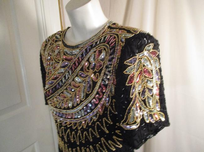 Laurence Kazar Vintage Beaded Sequined Party Oneam003 Dress Image 3
