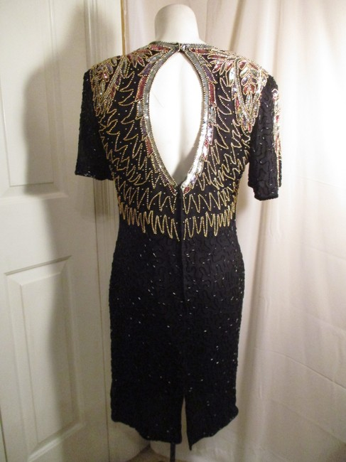 Laurence Kazar Vintage Beaded Sequined Party Oneam003 Dress Image 4