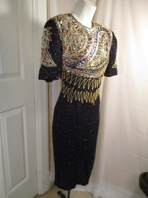 Laurence Kazar Vintage Beaded Sequined Party Oneam003 Dress Image 6