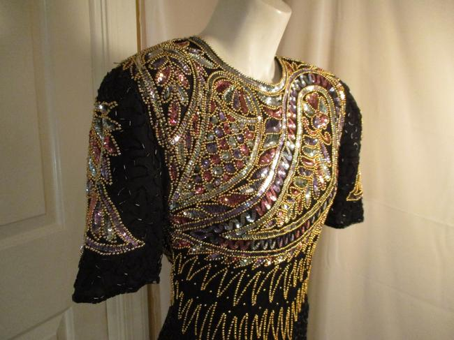 Laurence Kazar Vintage Beaded Sequined Party Oneam003 Dress Image 7
