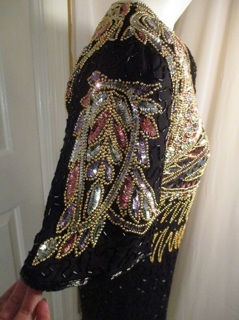 Laurence Kazar Vintage Beaded Sequined Party Oneam003 Dress Image 8