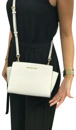 Michael Kors Mk Leather Signature Cross Body Bag Image 0