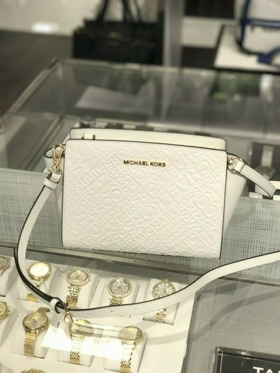 Michael Kors Mk Leather Signature Cross Body Bag Image 1